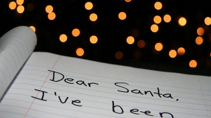 Panna Młoda pisze list do Mikołaja