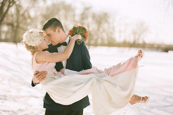 Magiczny ślub I Wesele Zimą ślub W Boże Narodzenie Zimowe I