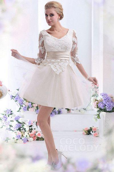 1da6f351dd Biała lub kremowa krótka sukienka podkreśli wyjątkowy charakter poprawin